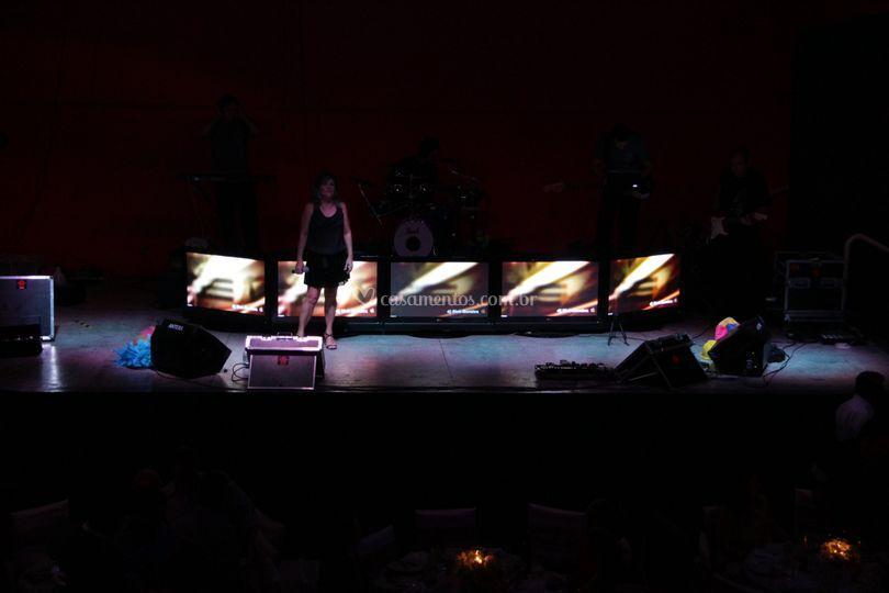 Iluminação do palco