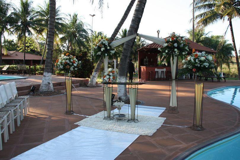 Cerimônia na Piscina