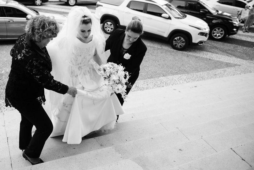 Entrada da noiva na cerimônia
