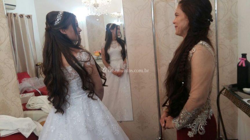 Noiva com sua mãe