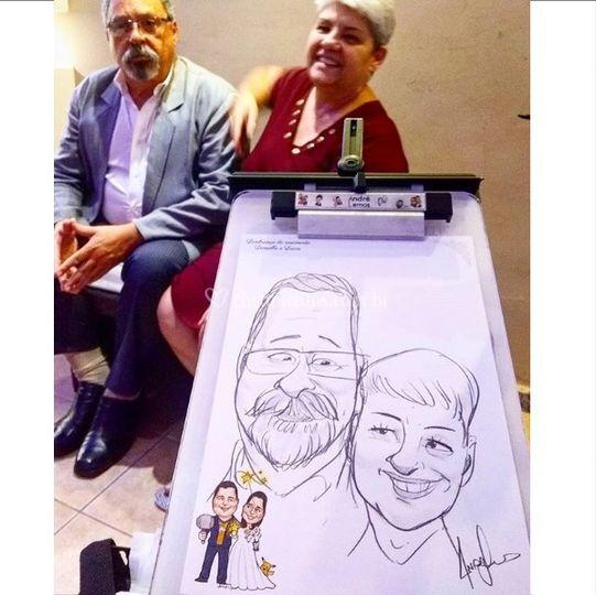 Caricatura na festa