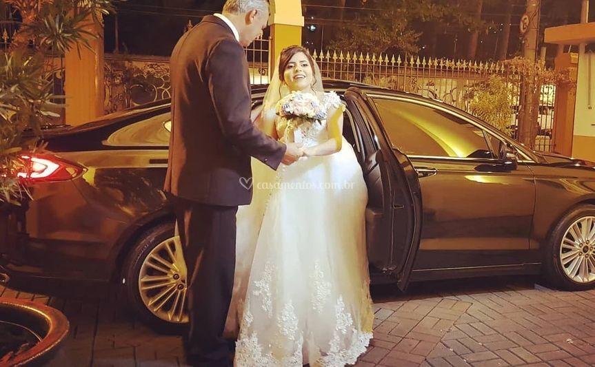 Pai com noiva