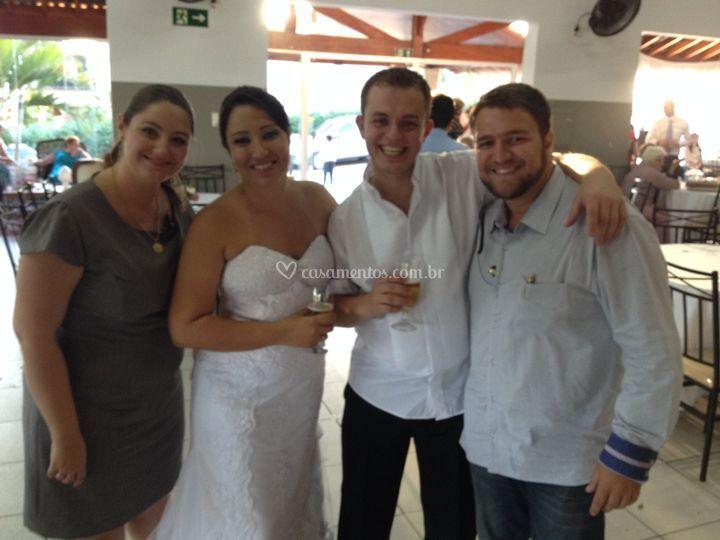 Maridos iluminados e felizes