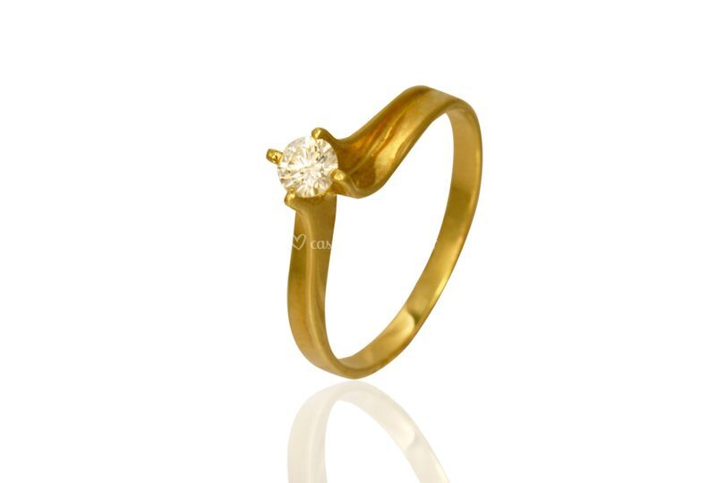 Anel ouro 18k - AN06042