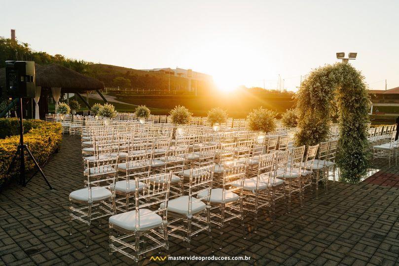 Cerimônia por do sol