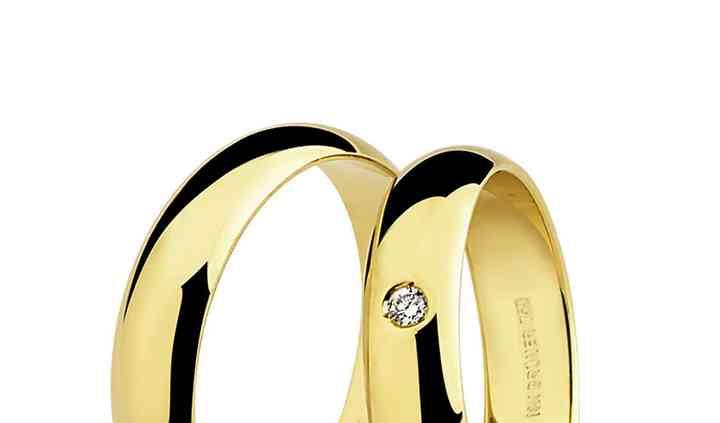 Aliança ouro 18k AL17 diamante