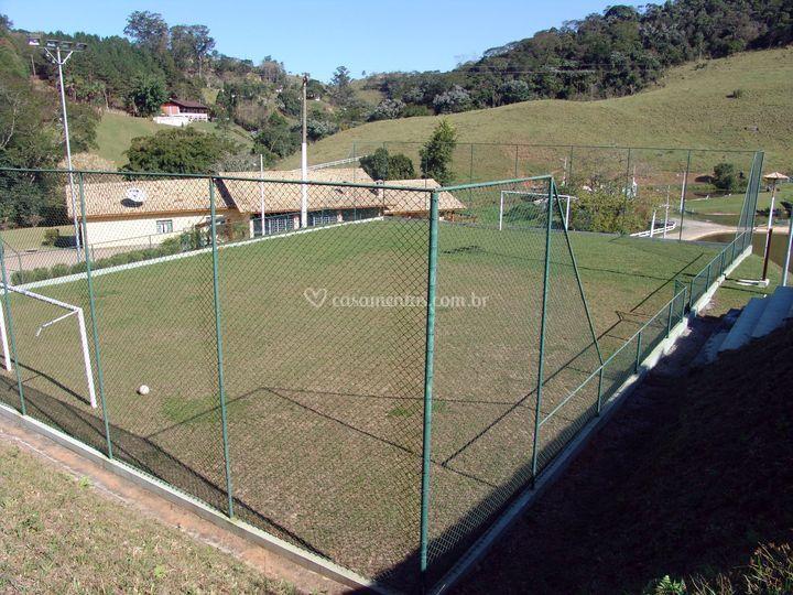 Campo de futebol para os convidados