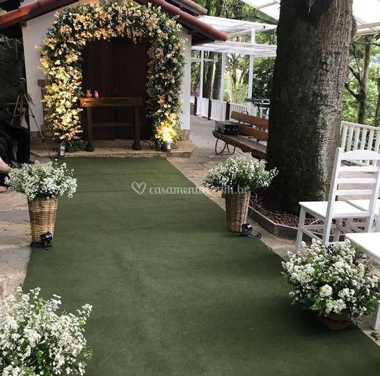 Casamente decorado com cestos