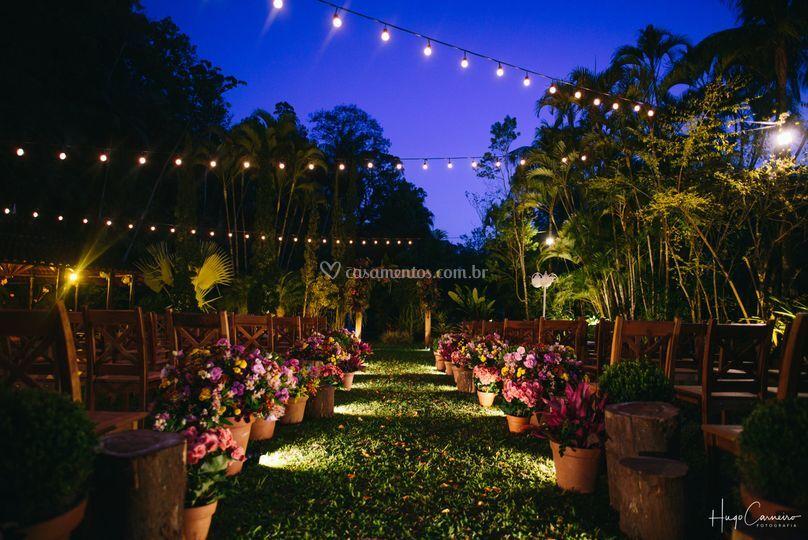 Cerimônia noturna e seu charme