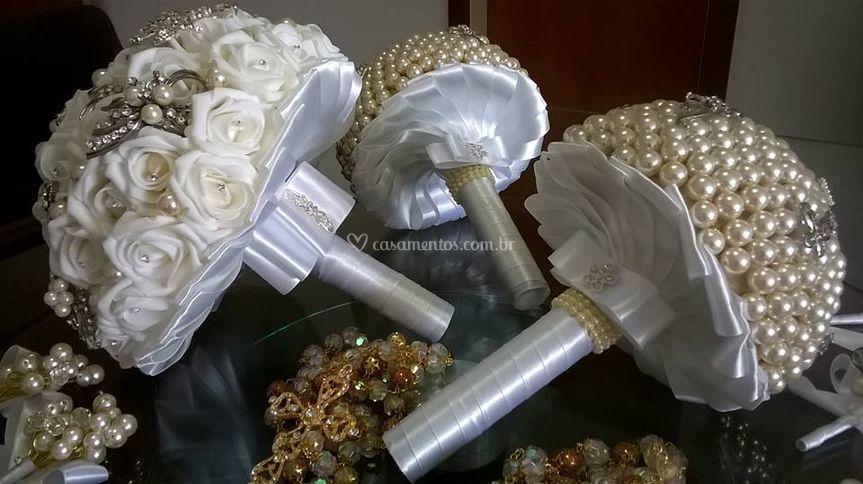 Buques para noiva e daminhas