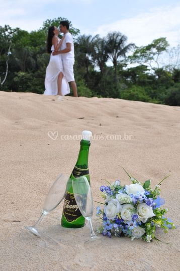 Ensaio na Praia - Champagne