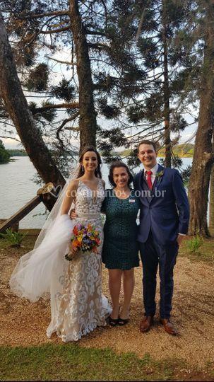 Com os recém casados