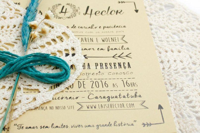 Convite Lais e Hector