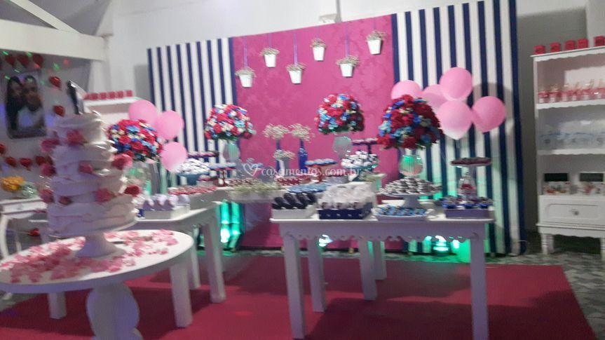 Casamento rosa com azul