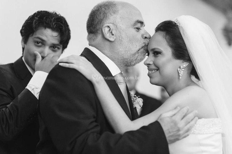 Beijo benção pai da noiva