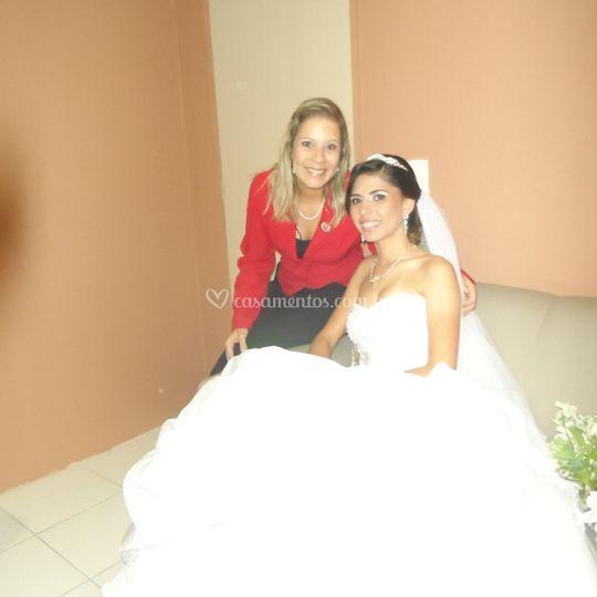 Ana Paula Rosa e a noiva