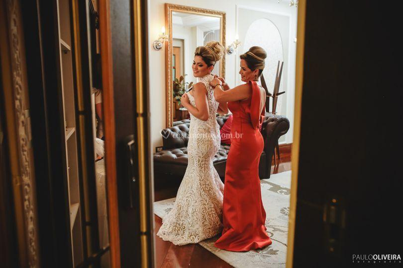 Noiva e mae da noiva real