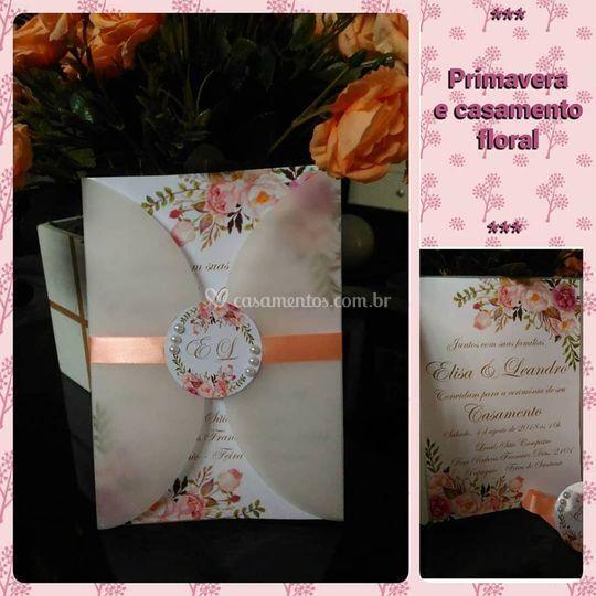 Convite floral vegetal