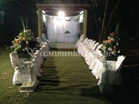 Espaço externo para a cerimônia