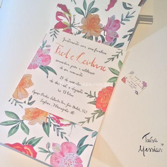 Convite Moldura