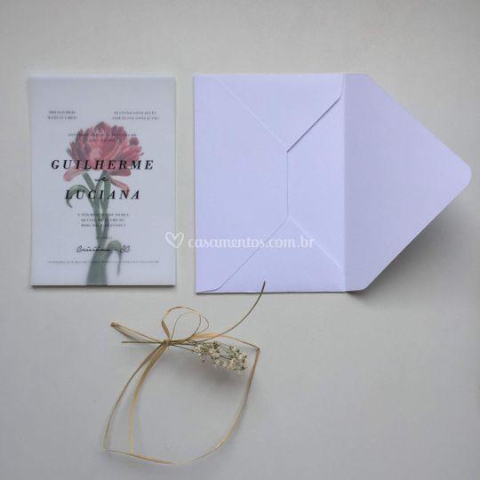 Convite Flor Vermelha