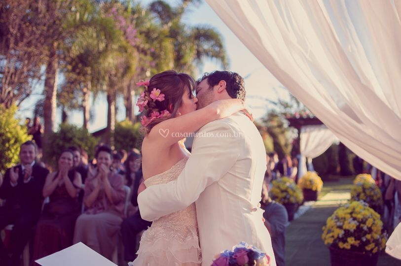 Beijo e cerimônia