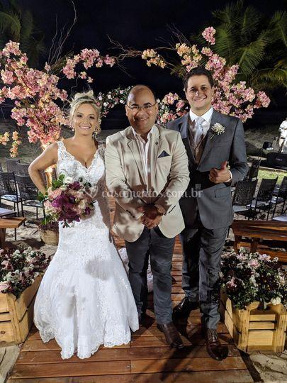 Casamento lindo de Rapha e Jul