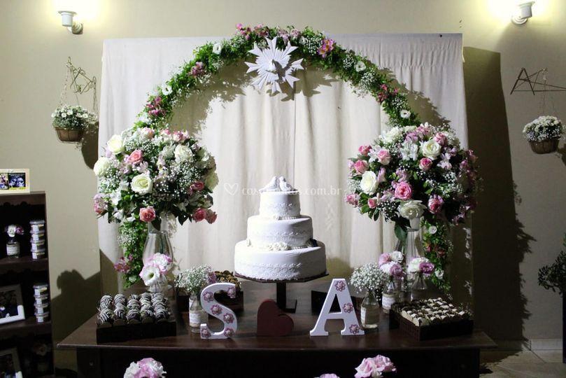 Mesa para o noivado