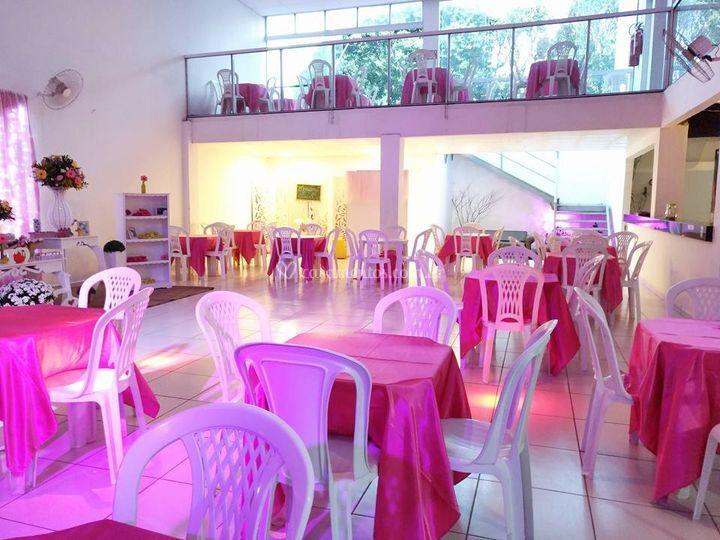 Salão de Festa ornamentado