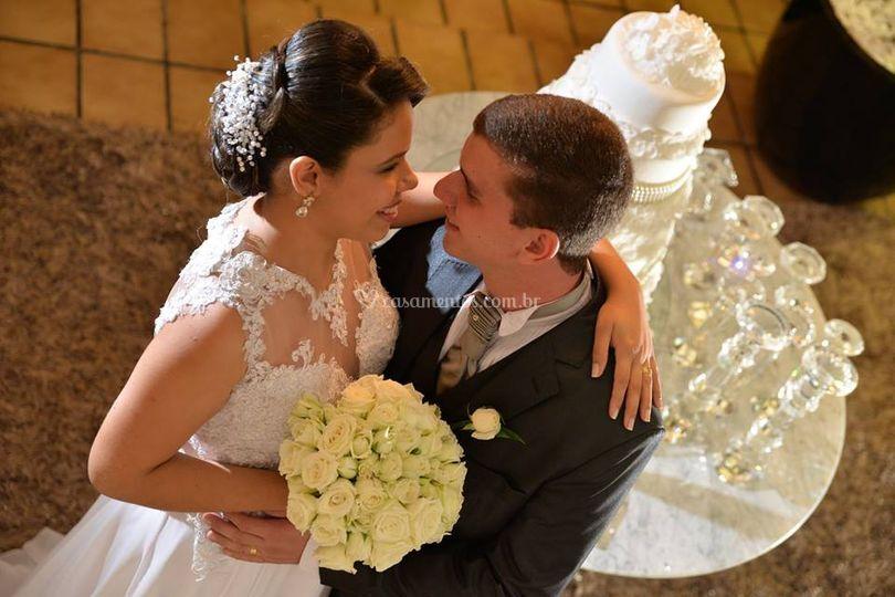 Fotos do casal após cerimônia