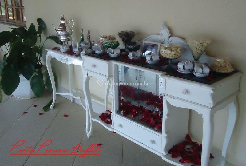 Mesa de café colonial