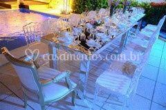 Cadeiras com lenço de seda