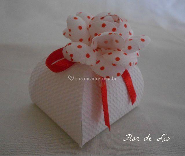 Caixa Florenza com flor e fita