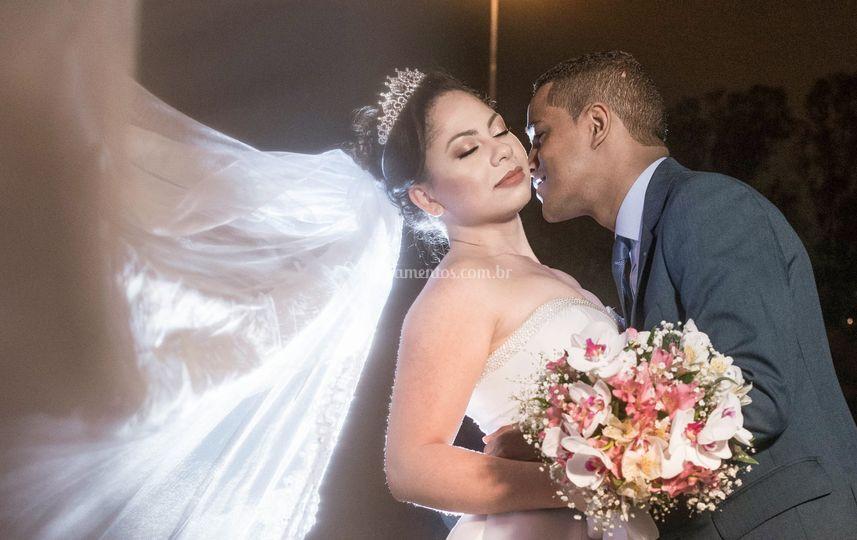 Casamento à noite.