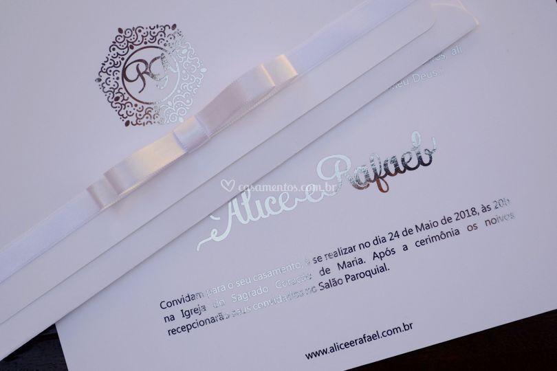 Convite de Casamento prata