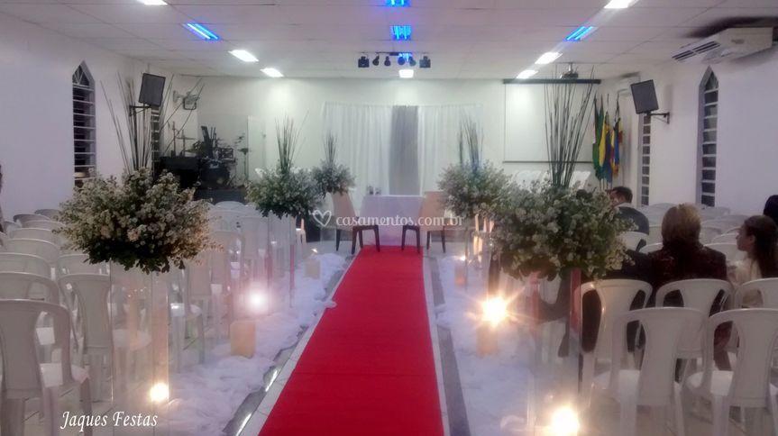 Cerimônia com luzes