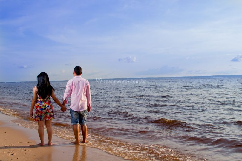 Ensaio fotográfico na praia