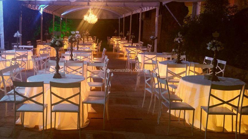 Iluminação para mesas