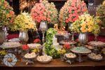 Mesa de bolo com doces