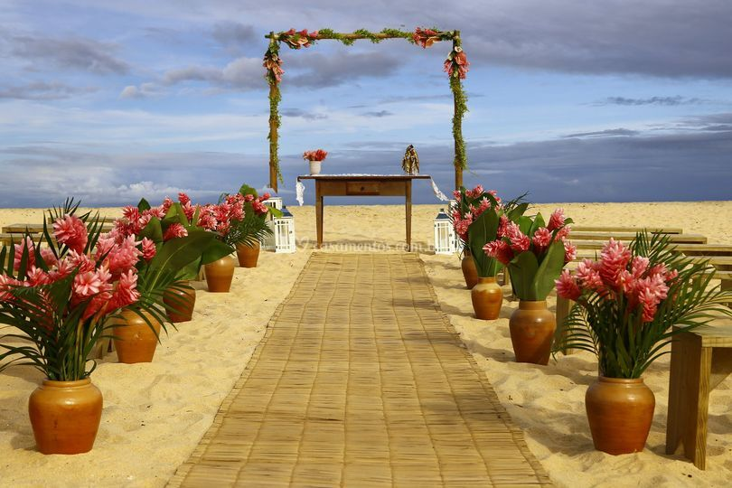 Altar pé na areia
