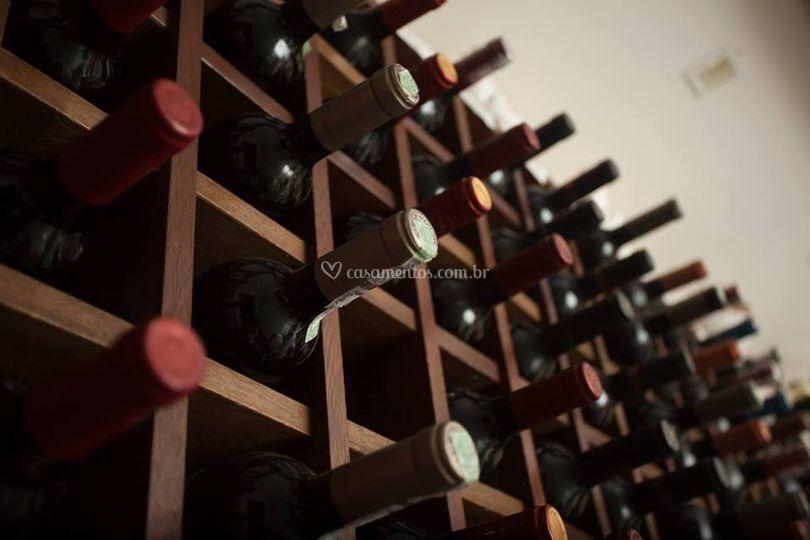 Adega de vinhos.