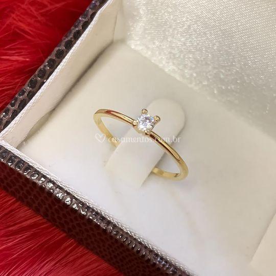 Anéis de Noivado em Ouro 18K