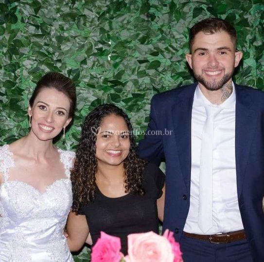 Noivos Carla e Matheus