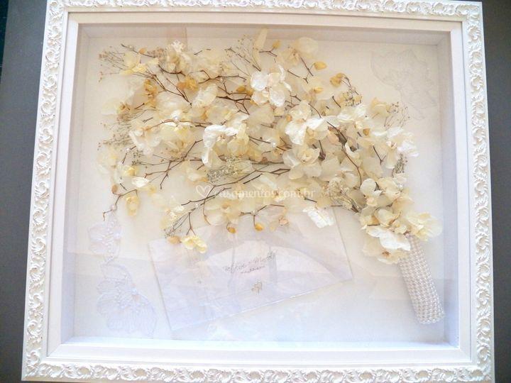 Buquê de orquideas brancas