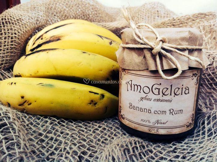 Geleia banana com rum 250g
