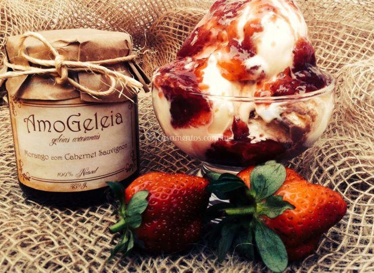 Morango com chocolate belga