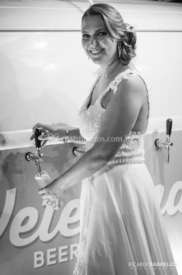 Noiva com a Veterana