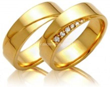 Aliança em ouro