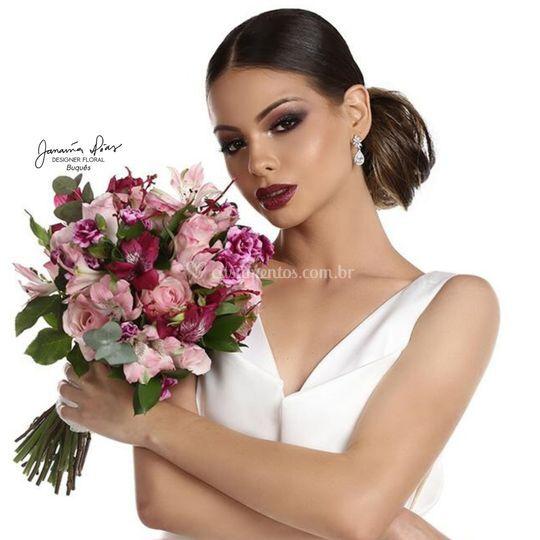 Bouquet rosa e marsala