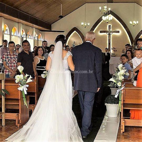 Noiva entrado